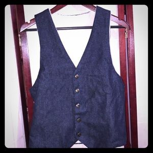 VINTAGE REVERSIBLE DENIM VEST M